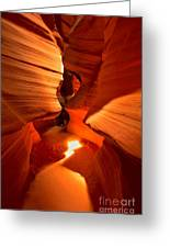 Winding Through Antelope Canyon Greeting Card