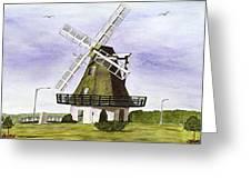 Windmill At City Beach Greeting Card