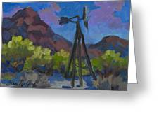 Windmill At Keys Ranch Joshua Tree Greeting Card