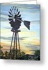 Windmill Capture The Wind Greeting Card