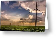 Windmill Farm Greeting Card