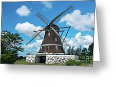 Windmill In Fleninge,sweden Greeting Card