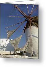 Windmill On Mykonos Greeting Card