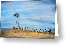 Windmill On The Hill Greeting Card