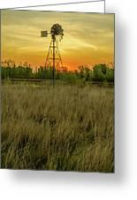 Windmill On The Prairie Greeting Card