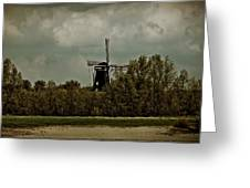 Windmill On The Rhine Greeting Card
