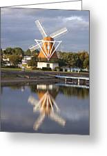 Windmill Reflections Wm2014 Greeting Card