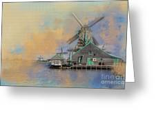 Windmills Of Zaanse Schans Greeting Card