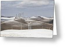 Windmils In Snow Greeting Card
