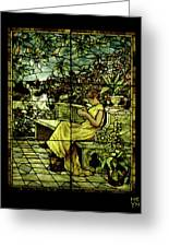 Window - Lady In Garden Greeting Card