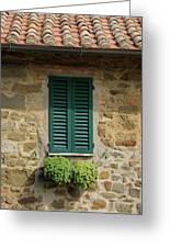 Window #3 - Cinque Terre Italy Greeting Card
