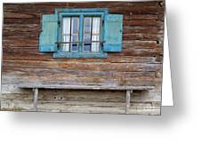 Window And Bench Greeting Card by Yair Karelic