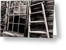 Window And Ladder Greeting Card