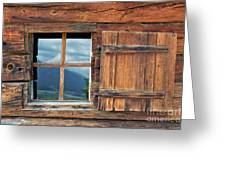 Window And Reflection Greeting Card