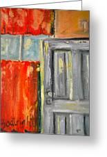 Window And The Pantry Door Greeting Card