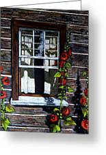 Window At Upper Canada Village Greeting Card