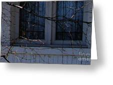 Window Blue - 2 Greeting Card