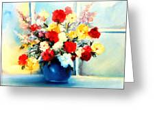 Window Bouquet Greeting Card