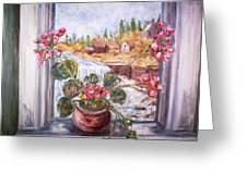 Window Falls Greeting Card
