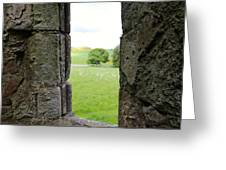 Window From The Past And Into The Future Greeting Card