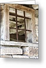 Window In The Amana Farmer's Market Barn Amana Ia Greeting Card