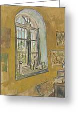 Window In The Studio Saint-remy-de-provence, September - October 1889 Vincent Van Gogh 1853 - 1890 Greeting Card