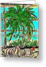 Window Loving Fern Greeting Card