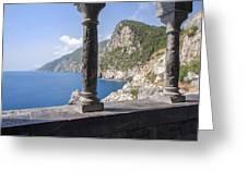 Window On The Sea At Portovenere Greeting Card