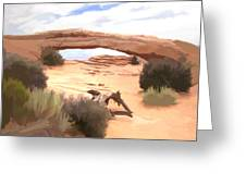 Window On The Valley Greeting Card