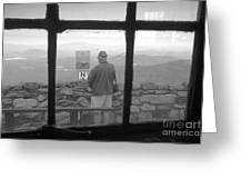 Window On White Mountain Greeting Card