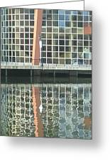 Window Reflection Greeting Card by Don Perino