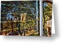 Window Reflection Greeting Card