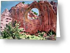Window Rock Greeting Card