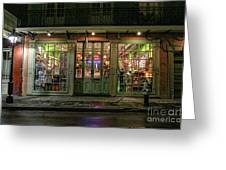 Window Shopping, French Quarter, New Orleans Greeting Card