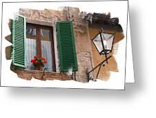 Window Siena Italy Greeting Card