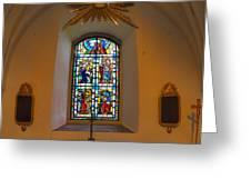 Window Teda Church Greeting Card