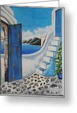 Window To Aegean Greeting Card