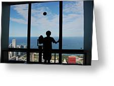 Window To Discovery Greeting Card