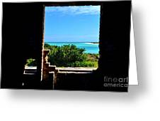 Window To Paradise Greeting Card