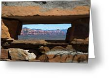 Window To Sedona Greeting Card
