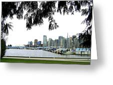 Window To The Harbor Greeting Card