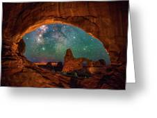 Window To The Heavens Greeting Card