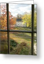 Window View Of Shakertown Greeting Card