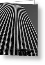 Window Washers View - Black And White Greeting Card
