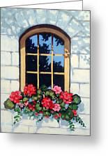 Window With Flower Box Greeting Card