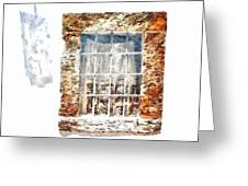 Window With Shadow On The Wall Greeting Card