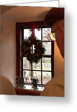 Window Wreath Greeting Card