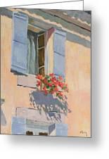 Windowbox Flowers Greeting Card
