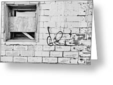 Windows And Tags Greeting Card