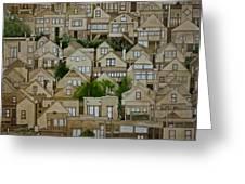 Windows Of Bernal Heights Greeting Card